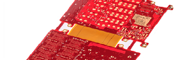 0.2mm Hole PCB Rigid -Flexible PCB Board Layer Stack