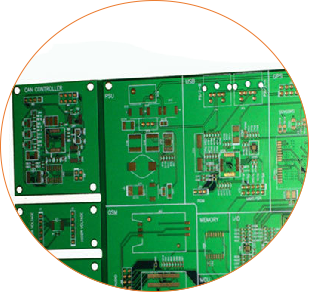 Resin Plug Hole Rogers Single Sided PCB Circuits Board (2)