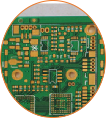 Resin Plug Hole Rogers Multilayer PCB Circuits Board (3)