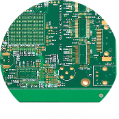 Two Layer Fr4 PCB Green Soldermask Layout  (3)